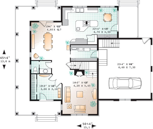 First level image of Featured House Plan: BHG - 9583