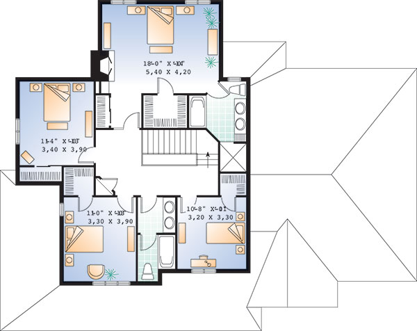 Second level image of Featured House Plan: BHG - 9818