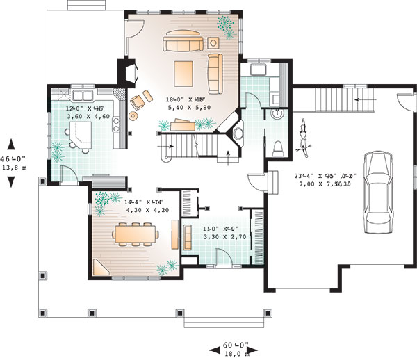 First level image of Featured House Plan: BHG - 9818