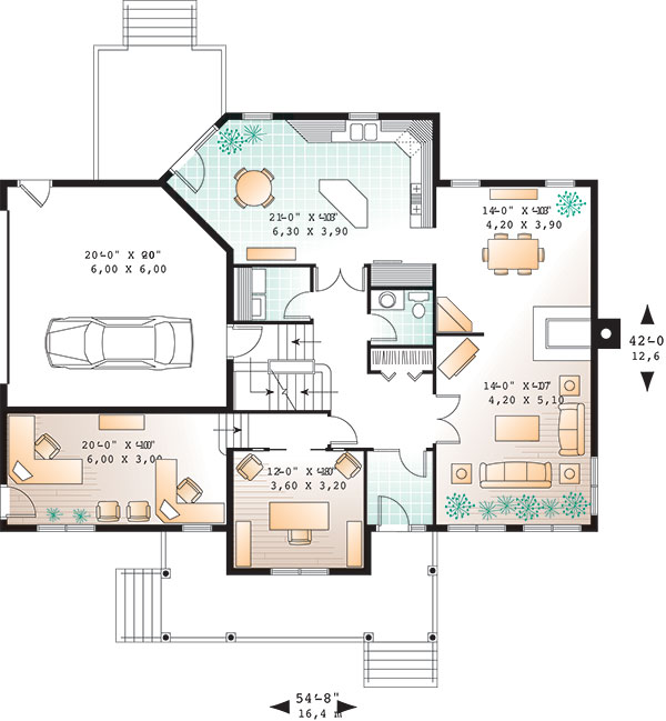 First level image of Featured House Plan: BHG - 9819