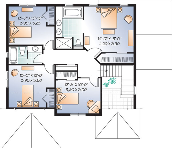 Second level image of Featured House Plan: BHG - 9548