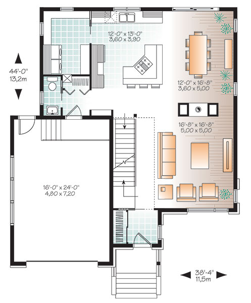 First level image of Featured House Plan: BHG - 9838