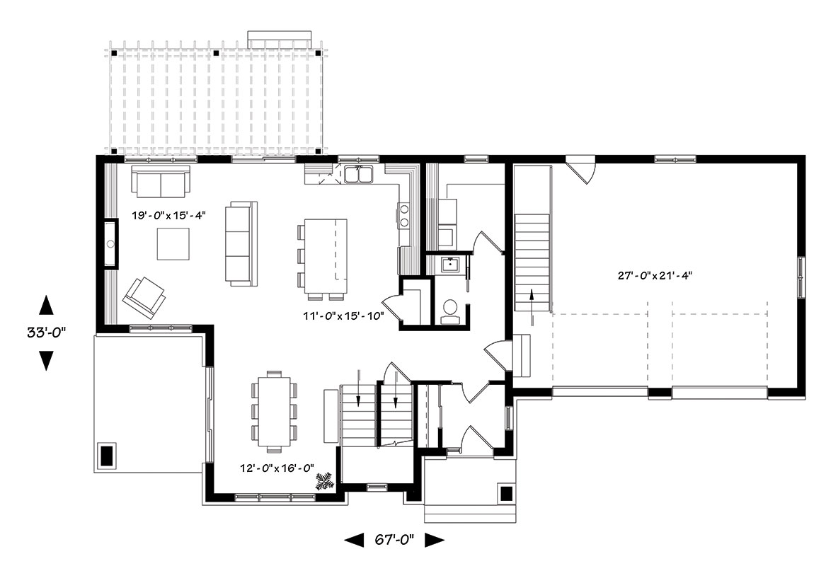 First floor image of Featured House Plan: BHG - 1439