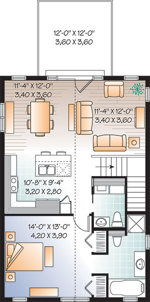 Second level image of Featured House Plan: BHG - 3264