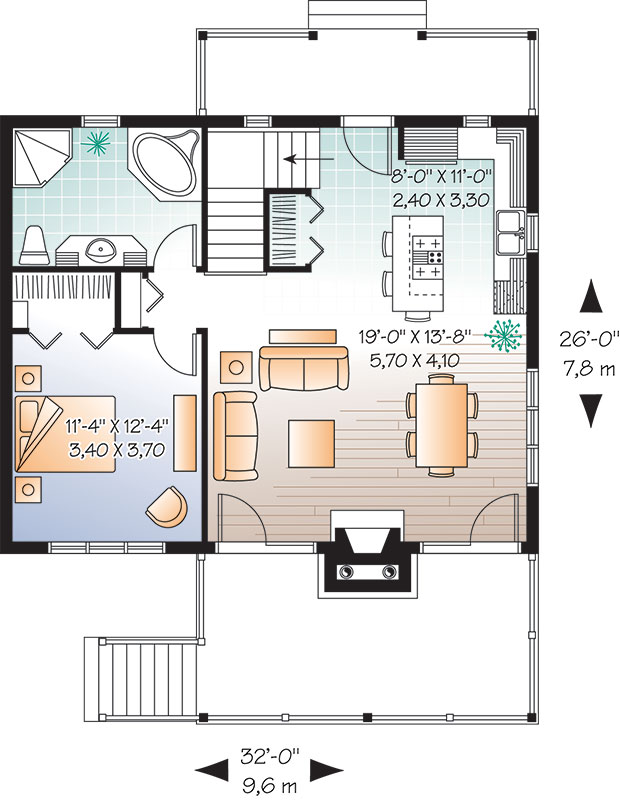 First level image of Featured House Plan: BHG - 9556