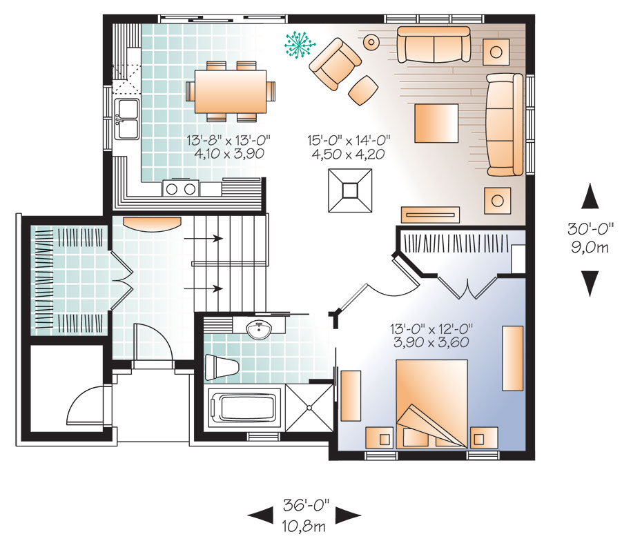 First level image of Featured House Plan: BHG - 9559