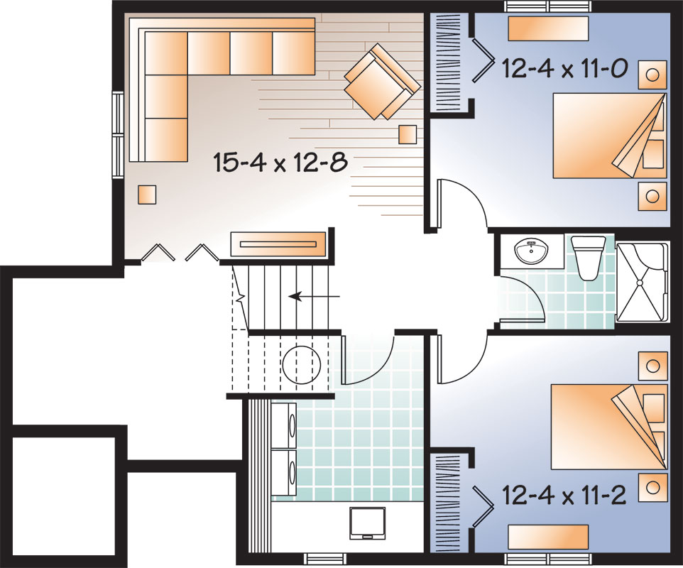Lower level image of Featured House Plan: BHG - 9559