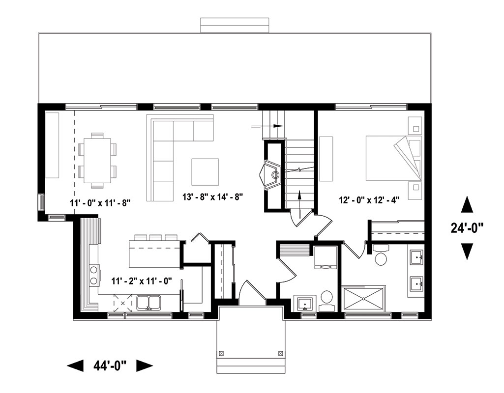 First floor image of Featured House Plan: BHG - 1459