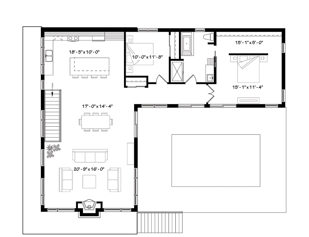 First floor image of Featured House Plan: BHG - 1447