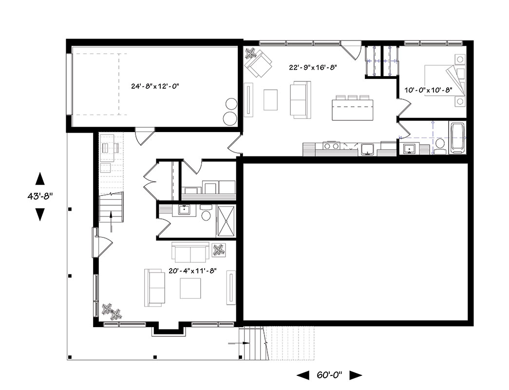Basement image of Featured House Plan: BHG - 1447