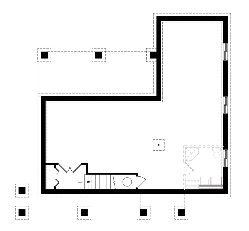Basement image of Featured House Plan: BHG - 1445