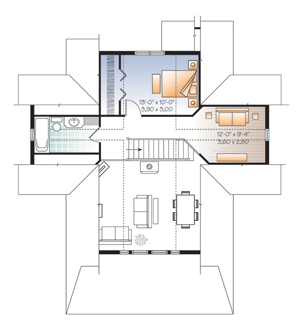 Second level image of Featured House Plan: BHG - 4769