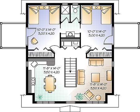 Second level image of Featured House Plan: BHG - 4780