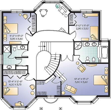 Second level image of Featured House Plan: BHG - 4761