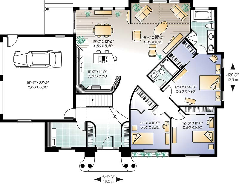 First level image of Featured House Plan: BHG - 4667