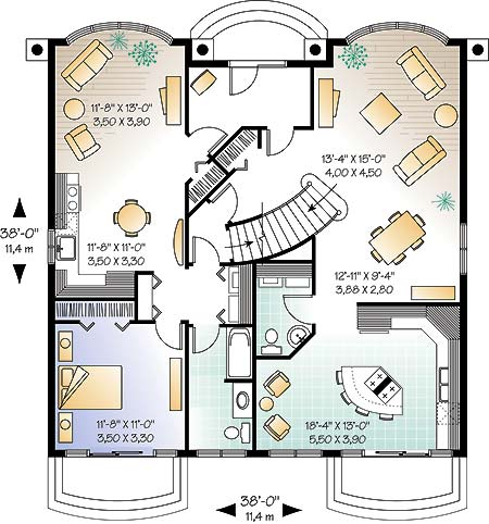 First level image of Featured House Plan: BHG - 4572