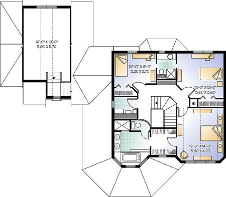 Second level image of Featured House Plan: BHG - 4573