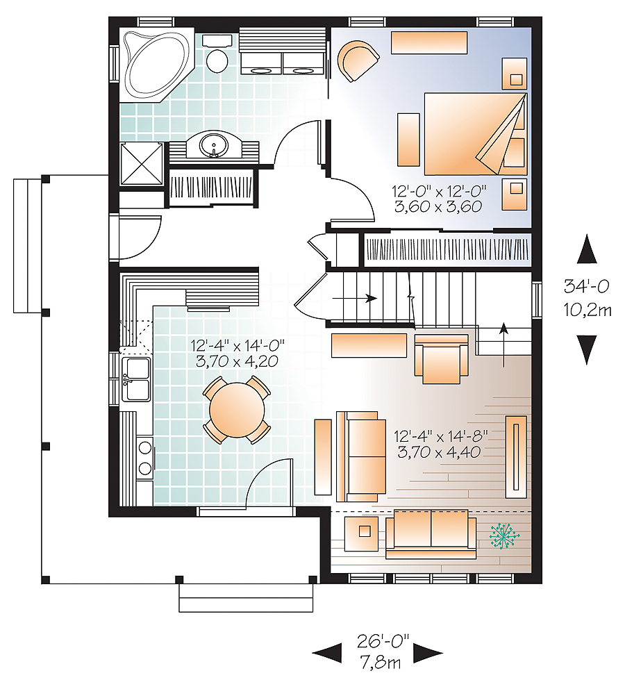First level image of Featured House Plan: BHG - 4757