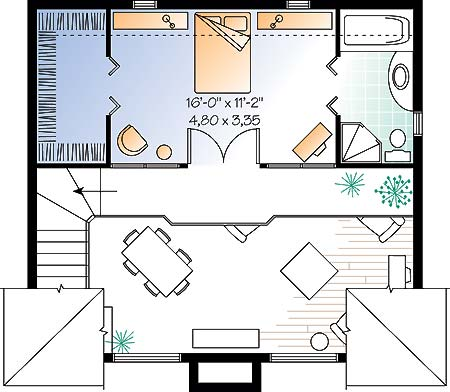 Second level image of Featured House Plan: BHG - 4762