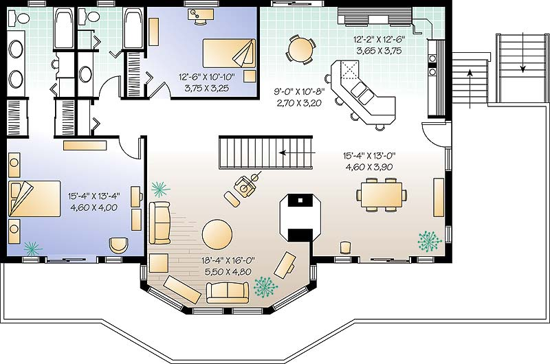 Second level image of Featured House Plan: BHG - 4647