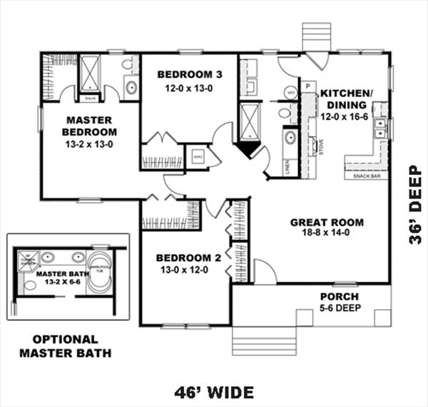Floor Plan image of Featured House Plan: BHG - 8483