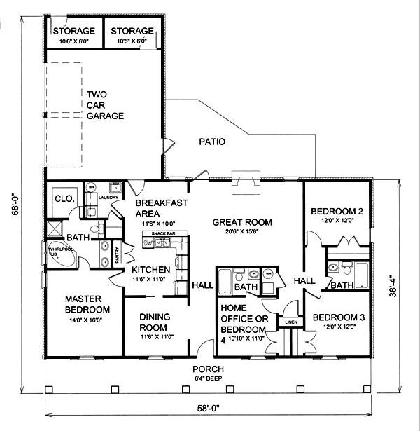 Floor Plan image of Featured House Plan: BHG - 5617