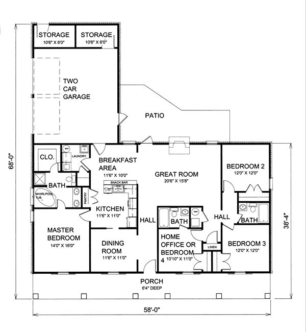 Floor Plan image of Featured House Plan: BHG - 5646