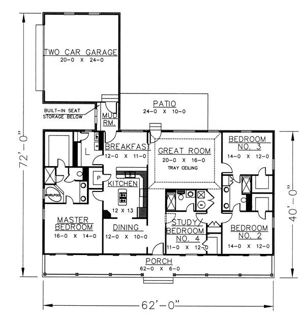 Floor Plan image of Featured House Plan: BHG - 5675