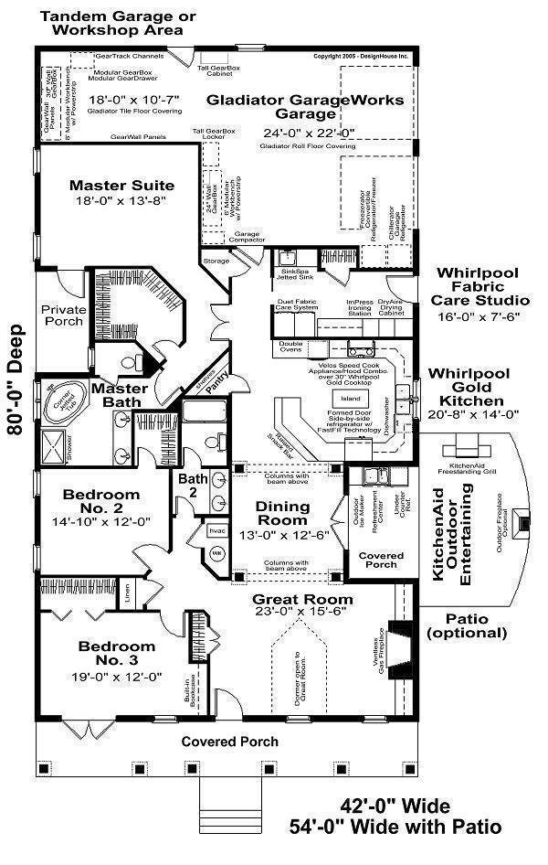 Floor Plan image of Featured House Plan: BHG - 6266