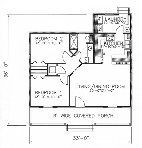 Floor Plan image of Featured House Plan: BHG - 6408