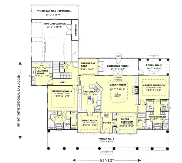 Floor Plan image of Featured House Plan: BHG - 6415