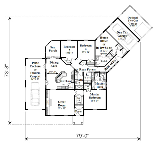 Floor Plan image of Featured House Plan: BHG - 4451