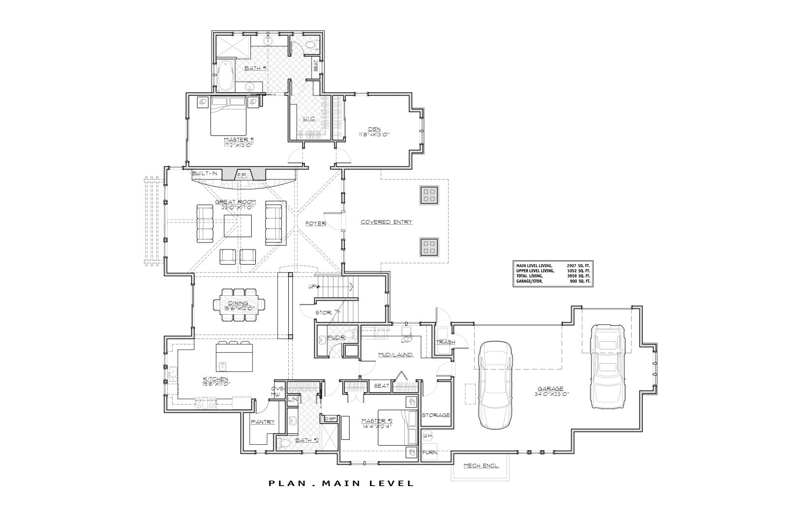 1st Floor Plan image of Featured House Plan: BHG - 1497