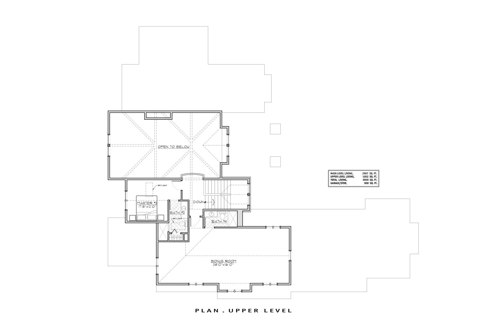 2nd Floor Plan image of Featured House Plan: BHG - 1497