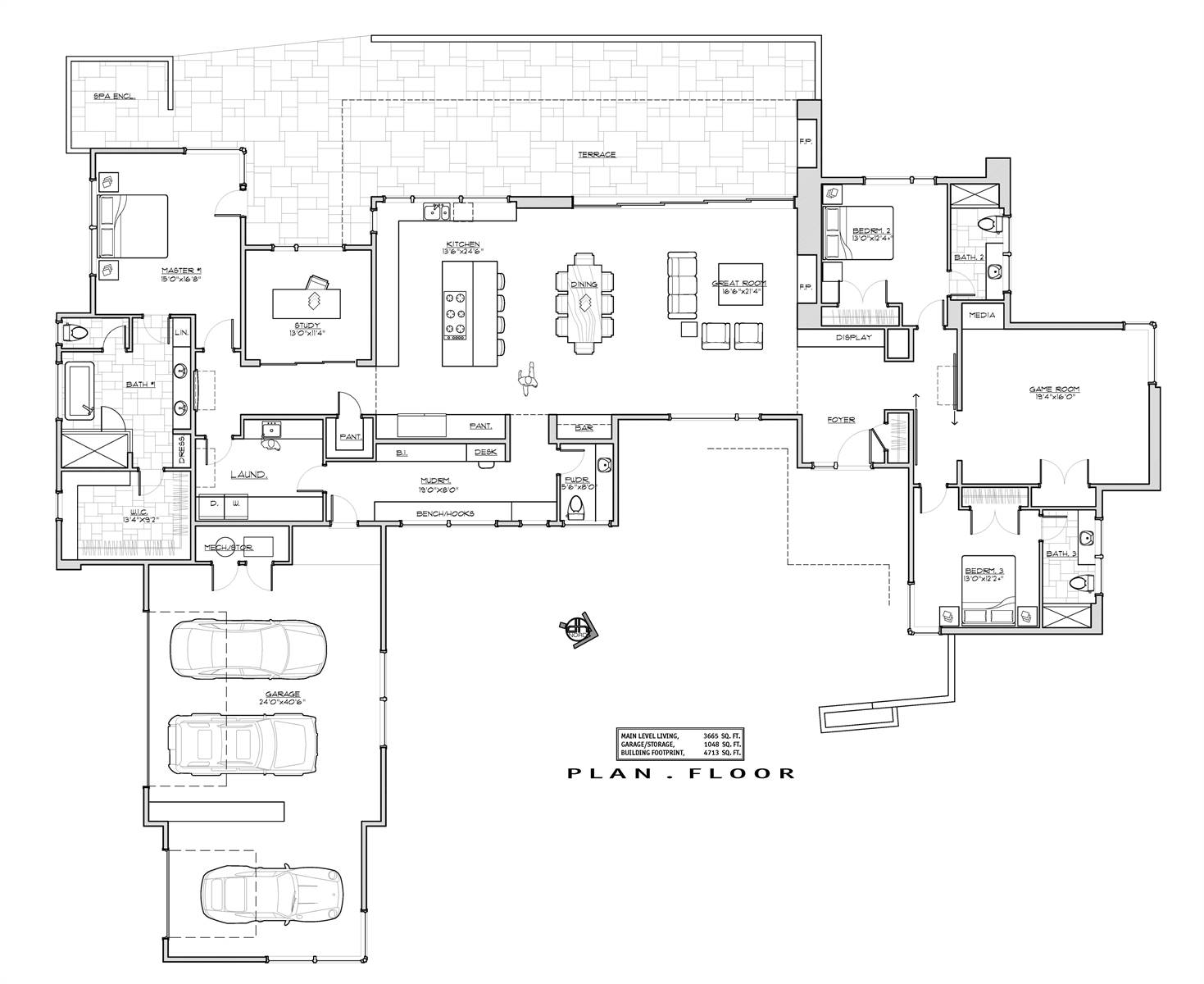 1st Floor Plan image of Featured House Plan: BHG - 6929