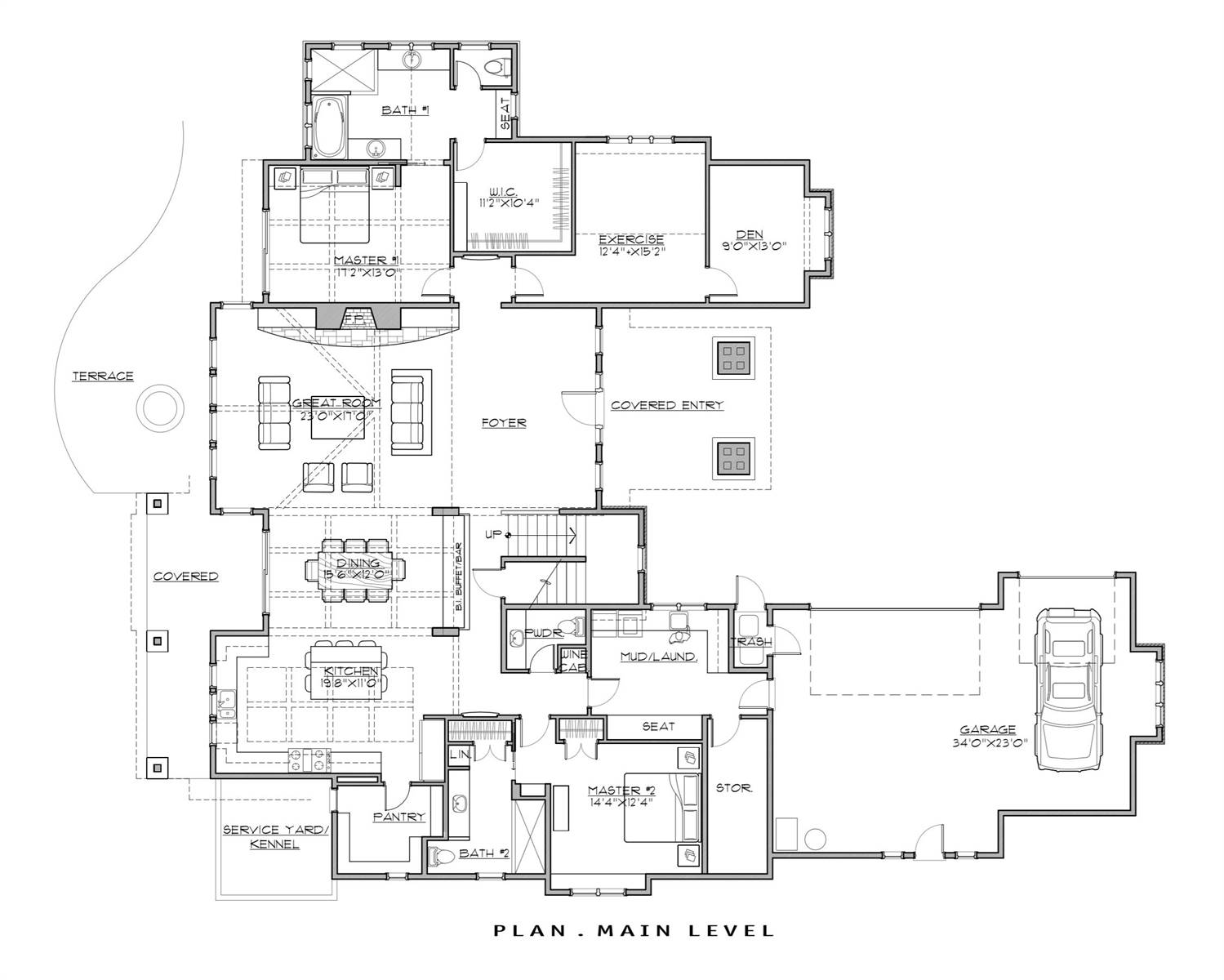 1st Floor Plan image of Featured House Plan: BHG - 7181