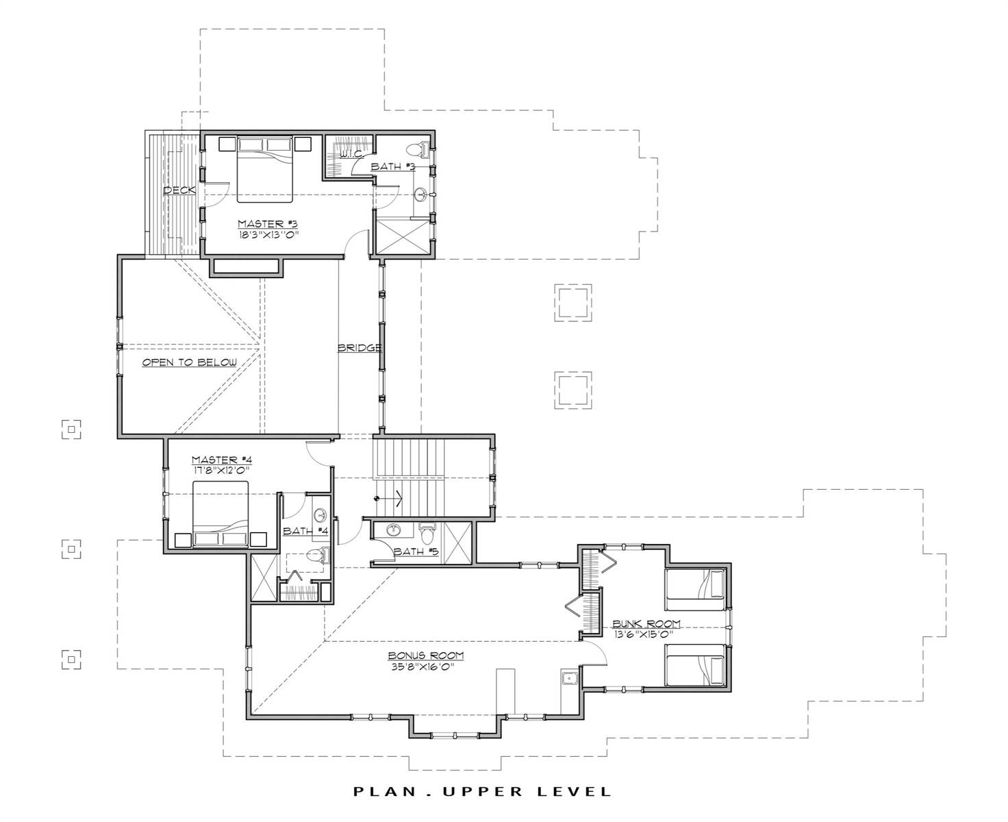 2nd Floor Plan image of Featured House Plan: BHG - 7181