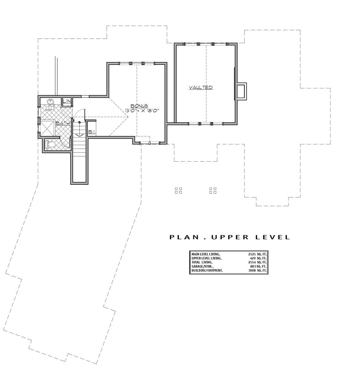 2nd Floor Plan image of Featured House Plan: BHG - 7185