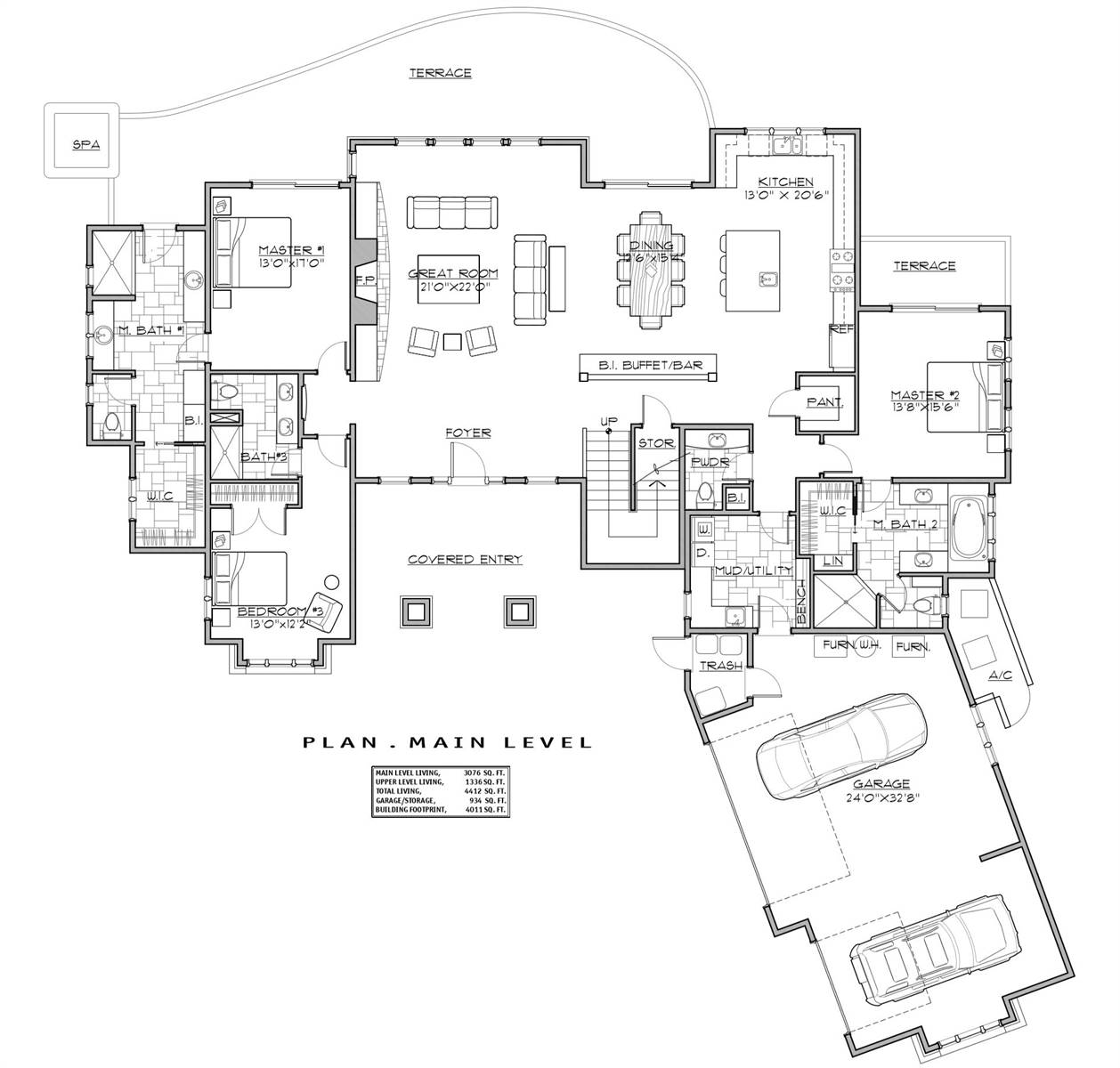 1st Floor Plan image of Featured House Plan: BHG - 7258