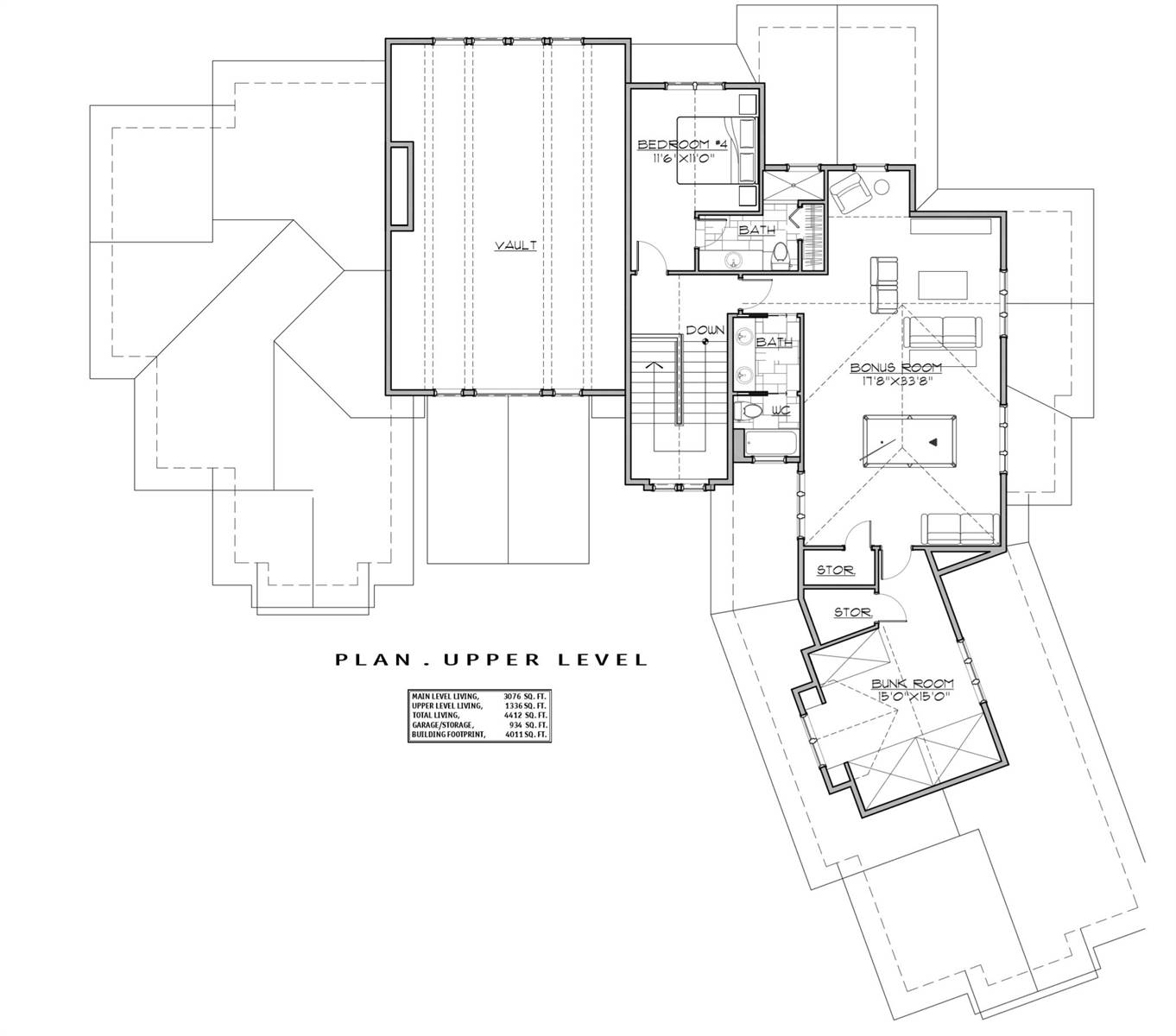 2nd Floor Plan image of Featured House Plan: BHG - 7258