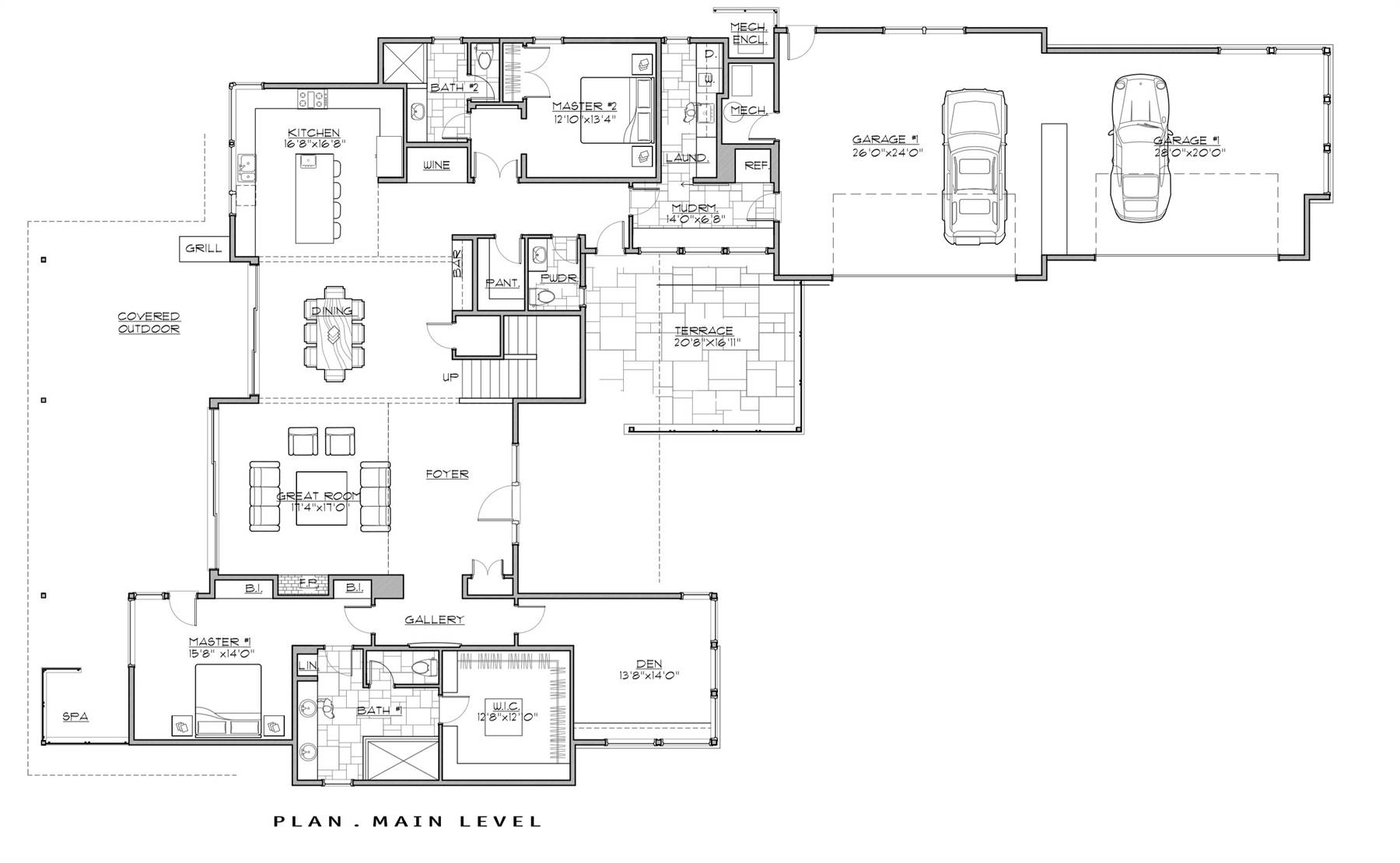 1st Floor Plan image of Featured House Plan: BHG - 7259