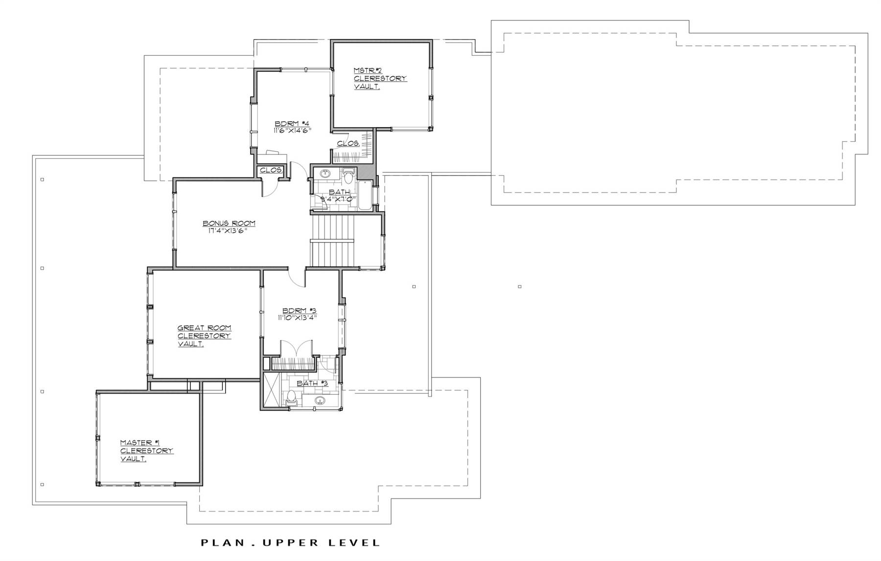 2nd Floor Plan image of Featured House Plan: BHG - 7259