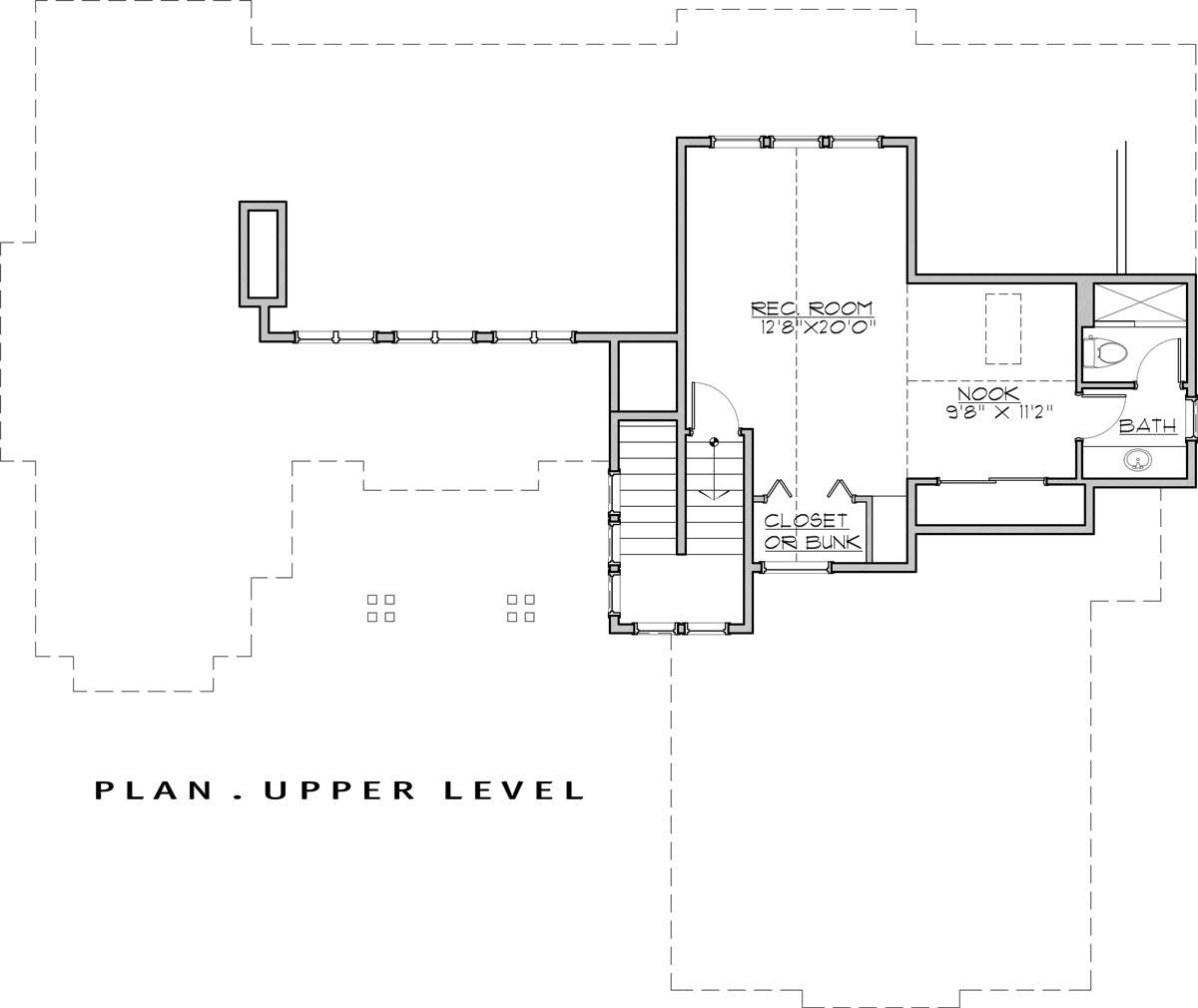 2nd Floor Plan image of Featured House Plan: BHG - 7450