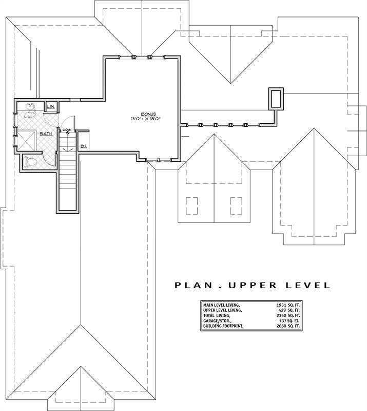 2nd Floor Plan image of Featured House Plan: BHG - 1939