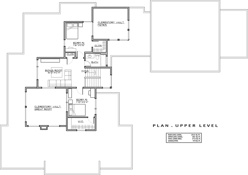 2nd Floor Plan image of Featured House Plan: BHG - 1941