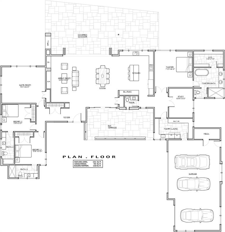 1st Floor Plan image of Featured House Plan: BHG - 1940