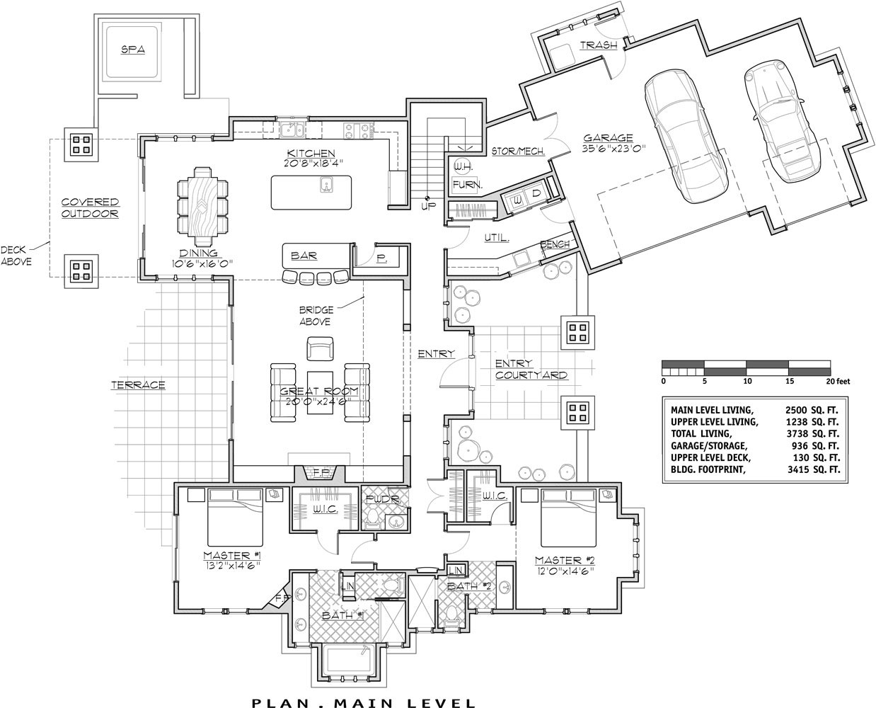 1st Floor Plan image of Featured House Plan: BHG - 9046