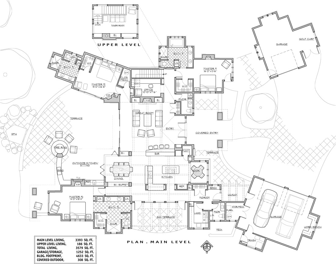 1st Floor Plan image of Featured House Plan: BHG - 9083