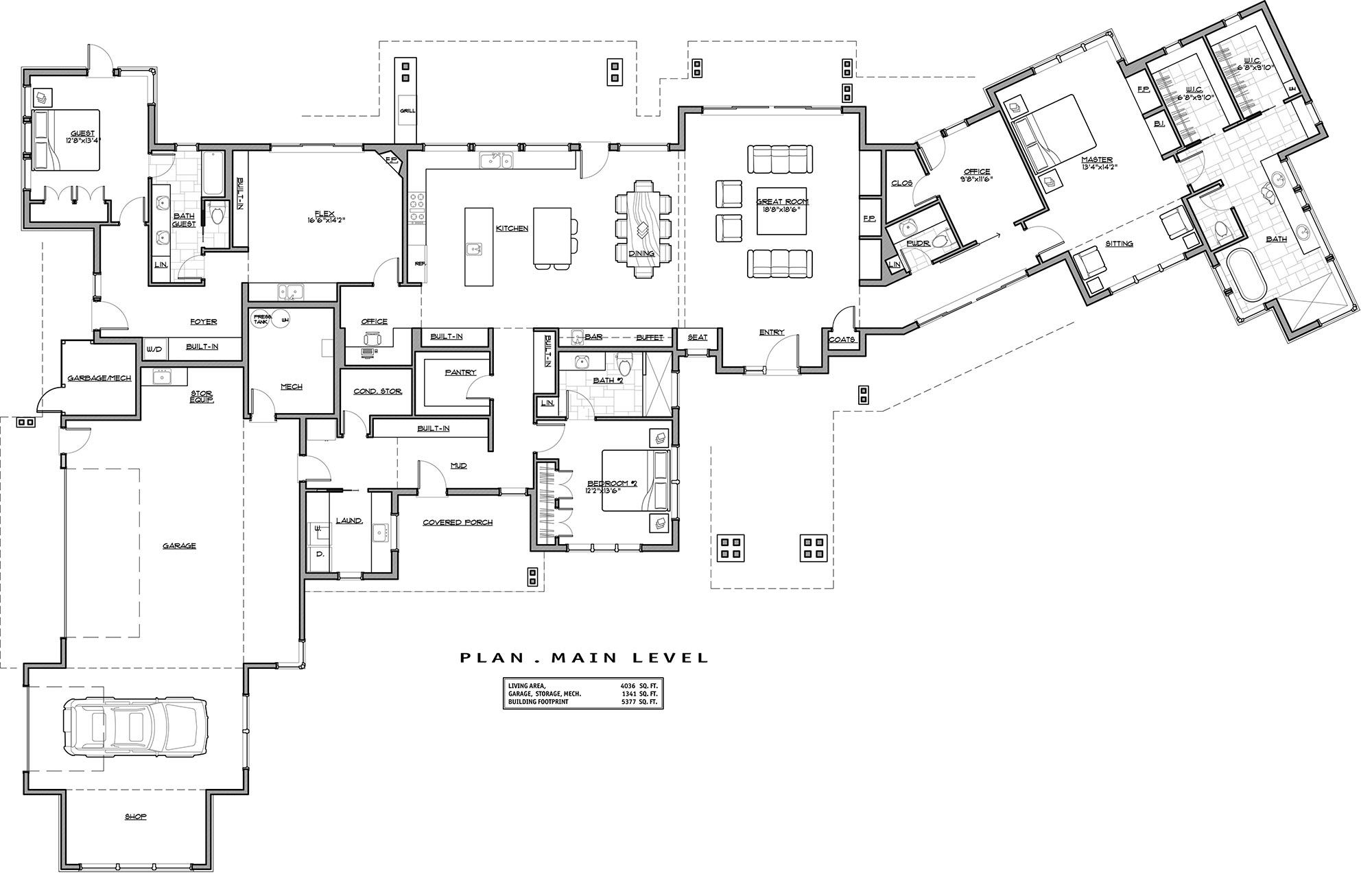1st Floor Plan image of Featured House Plan: BHG - 3031