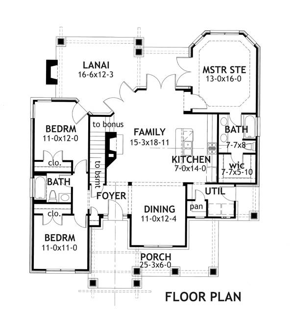 First Floor Plan image of Featured House Plan: BHG - 2231
